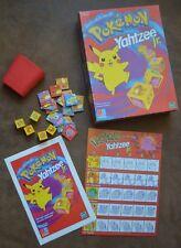 MB Games Pokemon Yahtzee Jr. 1999 Nintendo Hasbro Milton Bradley