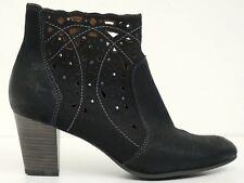 TAMARIS ▲ Stiefeletten Gr. 39 Schwarz Damen Leder Boots Schuhe Shoes