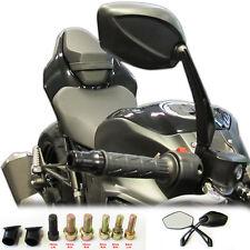 Black Angled Motorcycle Mirrors Universal 8mm & 10mm Thread Bike/Motorbike Pair