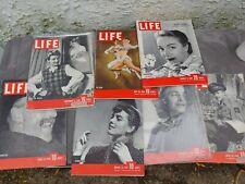 Vintage  1940's Life Magazine Issues Lot Of 7 Vintage Ads