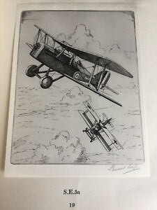 1934 PLANES of the GREAT WAR (Leigh) 50 tipped-in images WW1 aircraft in good DJ