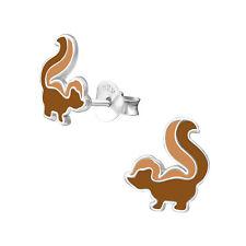 Girls Kids Stud Earrings 3597 Icyrose Sterling Silver Brown Squirrel