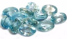 NATURAL BLUE  ZIRCON GEMSTONES LOOSE OVAL SHAPE PAIR