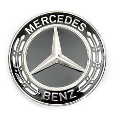 Mercedes-benz estrella emblema negro capó w463 w461 c253 w166 a0008171601