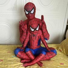 Black Red SpiderMan Superhero Kids Mens Boys Fancy Dress Costume Halloween Lot