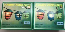 2 Boxes Vintage Patio 7 Lights 15 ft cord/Indoor/Outdoor Bar Party Camping RV