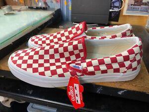 Vans Classic Slip On Golden Coast Red Checkerboard Size US 11 Men New Rare