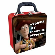 "Woody Toy Story ""You're My Favourite Deputy"" Square Tin Tote Lunch Box"