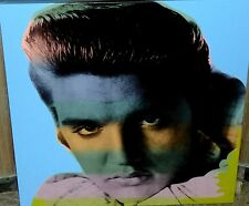Famous Steve Kaufman SAK Pop Art Legend Elvis Blue FREE U.S. SHIPPING