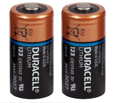 2 pile batterie CR123 CR123A 123 duracell 3V LITIO LITHIUM BULK scadenza 2024