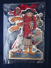 New listing Mary Engelbreit Wood Christmas Ornament You'D Better Not Pout ~ New Tag Package