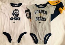 Univ.California Football Baby 3 Shirt Outfit One Piece SS Baby Romper 3/6M NWT