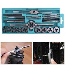 Steel Tap & Die Set with Small Tap Twisted Hand and 1/16-1/2 Inch NC Screw