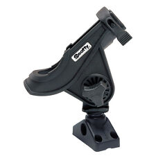 Scotty 280 BaitCaster/Spinning Fishing Rod Holder with 241 Deck/Side Mount Black