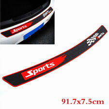 Sports Car Rear Bumper Guard Protector Trim Cover Sill Plate Trunk Rubber Pad