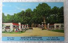Linen Postcard Oaklawn Cottages Motel Mississippi City Mississippi #pq1n
