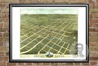 Old Map of Bowling Green, KY from 1871 - Vintage Kentucky Art, Historic Decor