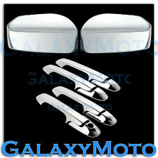 03-07 Honda Accord Triple Chrome Mirror+4 Door Handle w/o PSG Keyhole Cover Kit