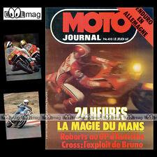 MOTO JOURNAL N°410 ENDURO HERBERT SCHEK PHILIPPE RAMADE 24 HEURES DU MANS '79