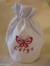 dolly bag personalised bridal communion butterfly white or ivory