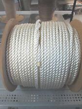 anchor rope dock lines 3/8 x 150' THREE STRAND Pure Nylon