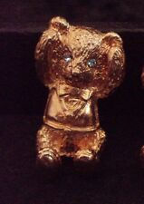 Butler & Wilson 'Hear no Evil' Gold Teddy Bear Brooch with Crystal Eyes