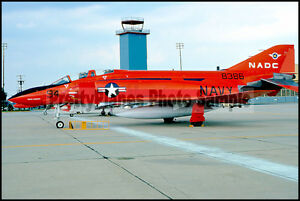 USN QF-4B Phantom Parked On Flight Line 1975 8x12 Photo