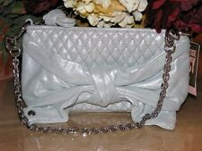 JUICY COUTURE EGGSHELL SHIMMER GIFTING BOW CAPSULE CLUTCH/ EVENING BAG MSRP$198