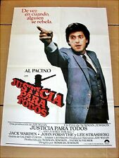 AND JUSTICE FOR ALL Vintage Movie Poster AL PACINO JOHN FORSYTHE NORMAN JEWISON
