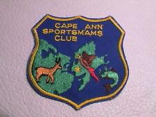 CAPE ANN MASSACHUSETTS SPORTSMANS CLUB GUN GAME FISH DEER PHEASANT HUNTING PATCH