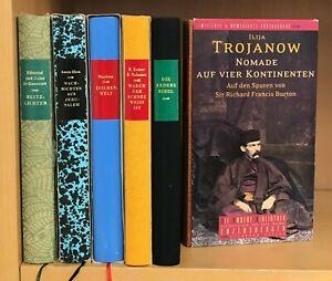 6 Bücher, Die andere Bibliothek, diverse Autoren, Sammlung Konvolut Paket