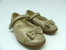 Clarks Girls Gold Mary Jane party First Shoes UK 5.5F