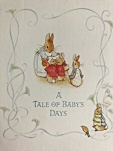 Vtg BEATRIX POTTER Peter Rabbit A Tale of Baby's Days Bunny Book Unisex New Box