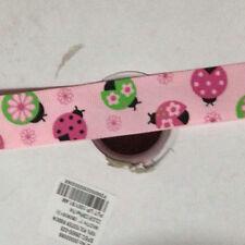 "2 Yards Kawaii  Pink Ladybug Cartoon Spring Grosgrain Ribbon 25mm(1"") Craft"