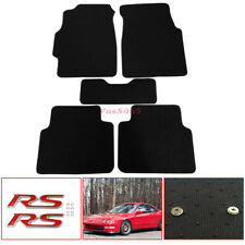Fits 94-01 1994 2001 Acura Integra Floor Mats Carpet Nylon Black W/RS Emblem