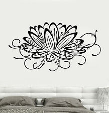 Vinyl Wall Decal Lotus Flower Water Lily Floral Art Stickers (643ig)