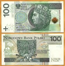Poland 2012 UNC 100 Polish Zloty Banknote Paper Money Bill P-186