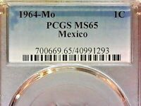 1964-Mo  PCGS MS65  Mexico one cent--1c