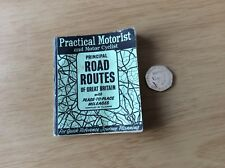 "Vintage 1958 ~ Practical Motorist ""ROAD ROUTES"" of Great Britain, with Mileages"