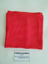 SUPREME EMBOSSED LOGO BEACH TOWEL RED