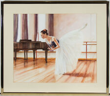 David Wilcox - Signed & Framed 20th Century Watercolour, The Ballet Dancer
