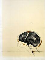 Görtz: Zerebrale Komposition. [19]72. Signierte Original-Farblithografie.