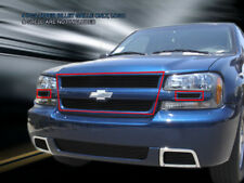 06-09 Chevy Trailblazer SS Bolt-On Black Billet Grille Upper Grill Insert Fedar
