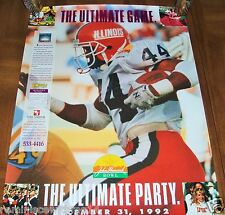 DECEMBER 31, 1992 JOHN HANCOCK BOWL POSTER-UNIVERSITY OF ARIZONA vs BAYLOR BEARS