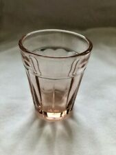 Anchor Hocking Pillar Optic Pink Shot Glass
