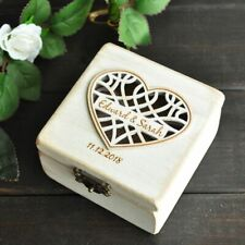 Personalized Wedding Ring Box Ring Holder Bearer Engagement Wedding Ring Pillow