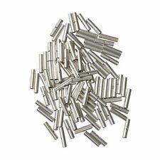 new 100 Pcs Non Insulated Butt Wire Connector Terminal 18-22 Gauge