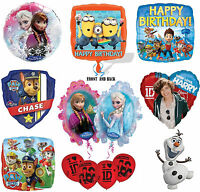 Disney & Kids TV Character Party Birthday Celebration Latex & Foil Balloons New