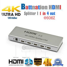 Full HD HDMI 1in 2out/1in 4out 4K 2.0 Splitter Amplifier Repeater 1080p 1X2 1x4