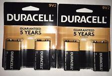 2 Packages Of Duracell 9v Battery 2 Packs
